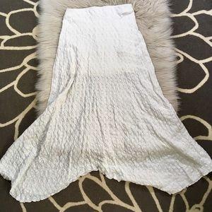 Free People beach white maxi skirt size Small